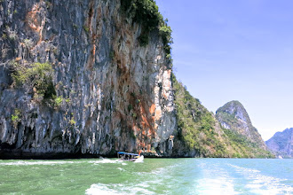 Photo: limestone karsts in Phang Nga Bay