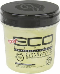 Eco Style Black Castor and Flaxseed Oil Gel - 16oz