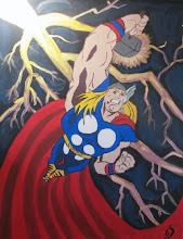 Photo: Thor Wall Mural  Blog Post: http://createsharerepeat.blogspot.com/2010/09/no-excuses.html