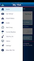 Screenshot of MyTSA