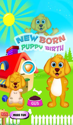 新生的小狗的女孩遊戲
