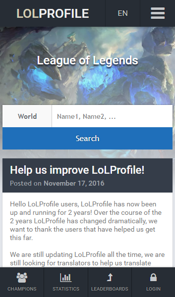 LoLProfile League of Legends- screenshot