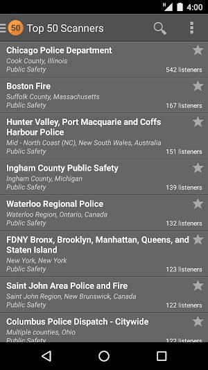 1 Scanner Radio App screenshot