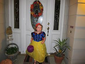 Photo: In her Snow White Halloween Costume, 2013