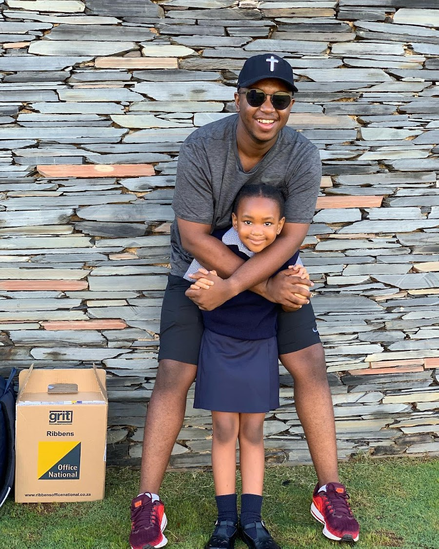 Shimza with his daughter