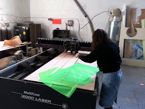 Photo: Laser Cutter from FabLab Barcelona / Talladora làser del FabLab Barcelona