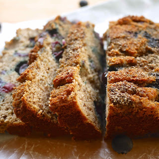 Blueberry Chia Banana Bread (paleo, GF)