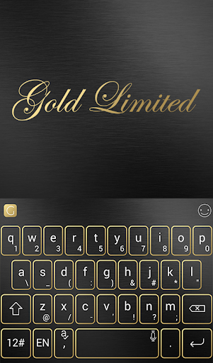 Gold Limited Keyboard Theme