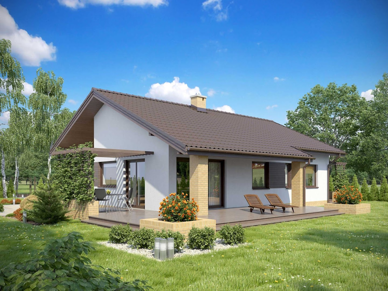 Projekt domu tk 2 trs 753 for Techos livianos para viviendas