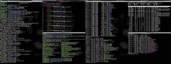 Photo: Hammering out some bugs with awesome-wm while testing Sabayon Forensics XFCE: what a desktop should look like:
