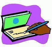 Image result for write a check clipart