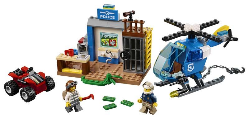 Contenido de Lego® 10751 Persecución Policial en la Montaña