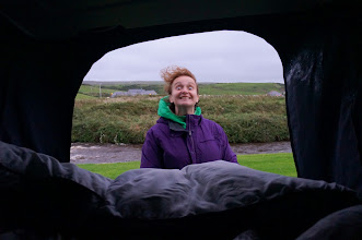 Photo: And it might be a little windy, here along the West Coast, just a km from the Cliffs of Moher