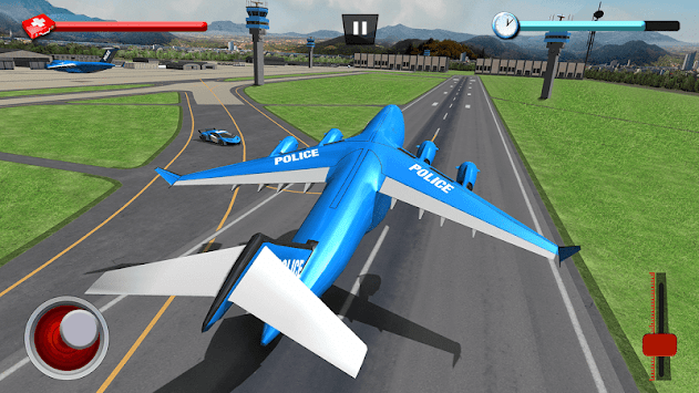 Police Robot Car Game – Police Plane Transport APK screenshot thumbnail 8