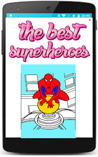 spider superheroes coloring pages game for kids - náhled