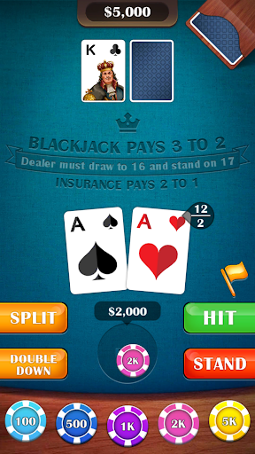 Blackjack 21 - casino card game - screenshot
