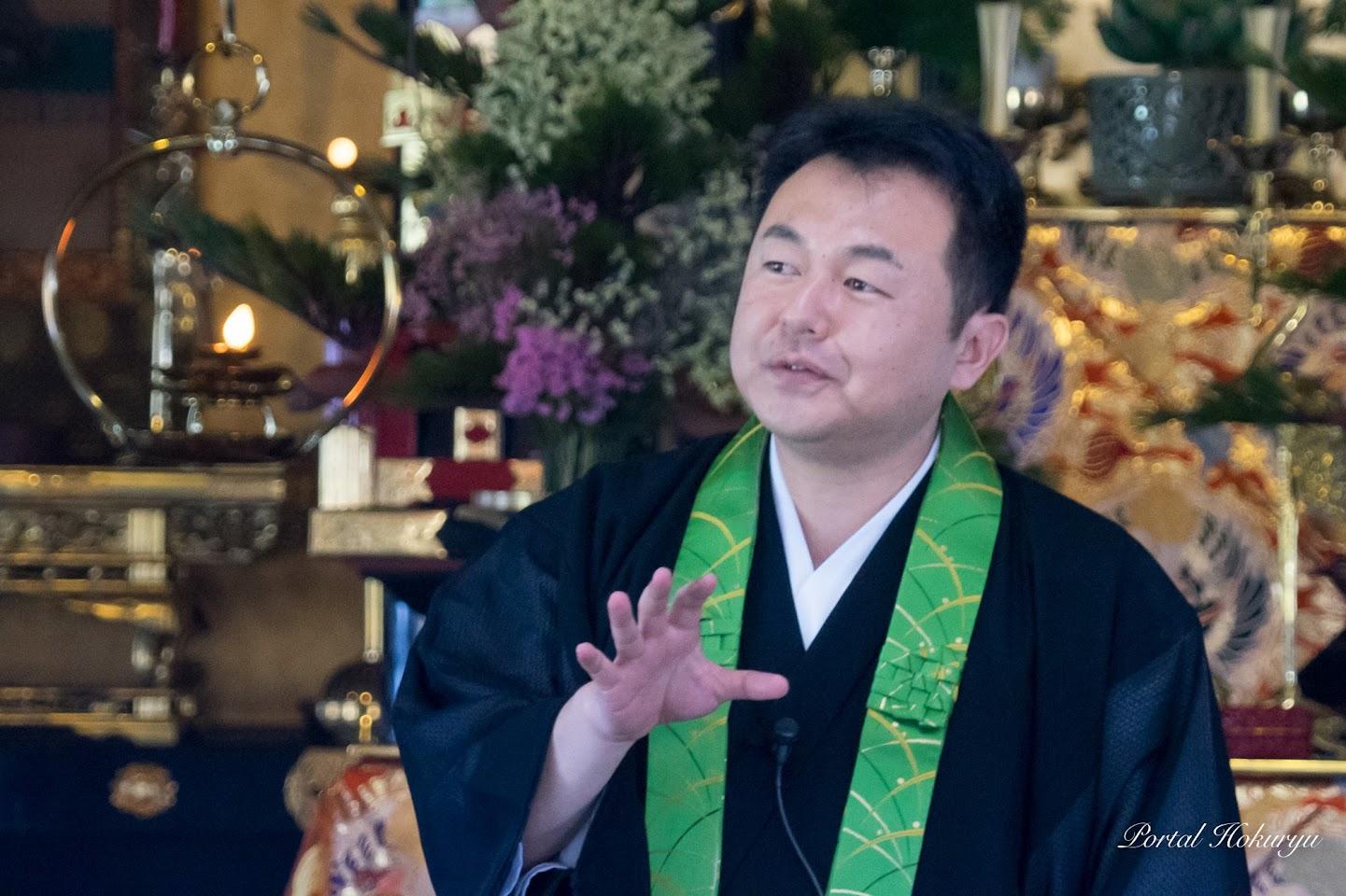 布教使・相河朋昭師(向陽寺・芦別市)