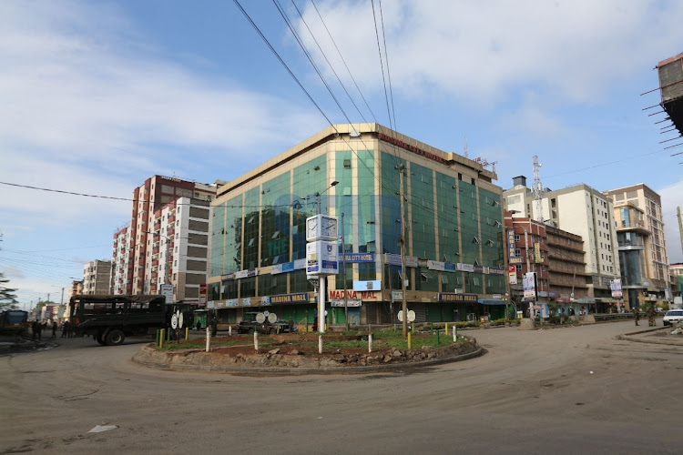 First Avenue in Eastleigh is seen deserted after residents remained indoors and business premises remained shut.