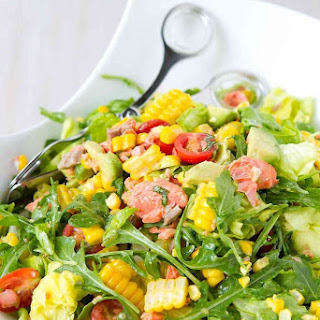Summertime Salmon Chopped Salad.
