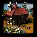Cartoon Village 3D icon