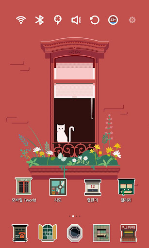 【免費個人化App】Cat and Window Launcher Theme-APP點子