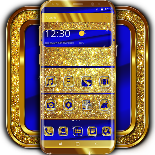 Baixar Cobalt and Gold Launcher Theme para Android