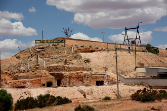 Photo: Year 2 Day 220 - Houses Set in to the Hill at Coober Pedy