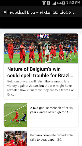 All Football Live - Fixtures, Live Scores, News 1.1 screenshots 8