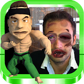 Hit face kickboxer