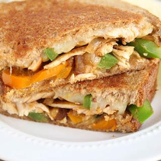 Chicken Fajita Grilled Cheese Sandwiches