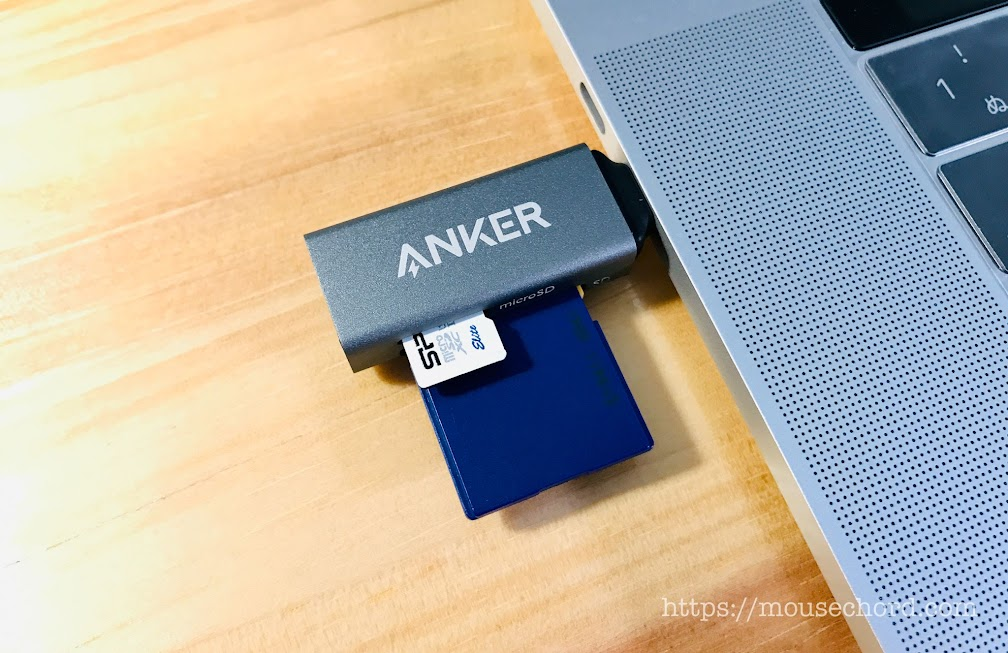 Anker USB-C 2 in 1 カードリーダ購入Review