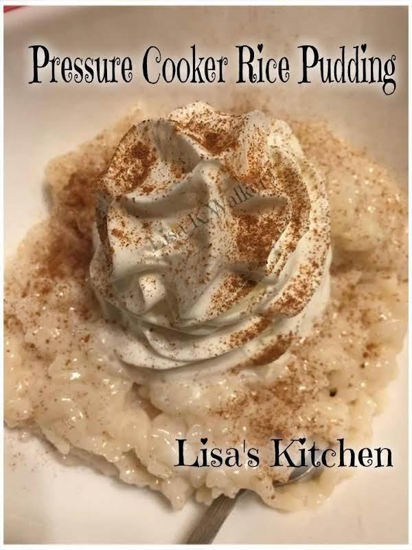 Pressure Cooker Rice Pudding Recipe