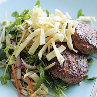 Hoisin Pork Patties with Asian Coleslaw