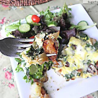 Healthy Potato Spinach Cheesy Frittata.