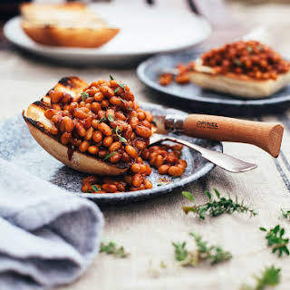 "MISO & MOLASSES BAKED BEANS FROM ""MODERN POTLUCK""."