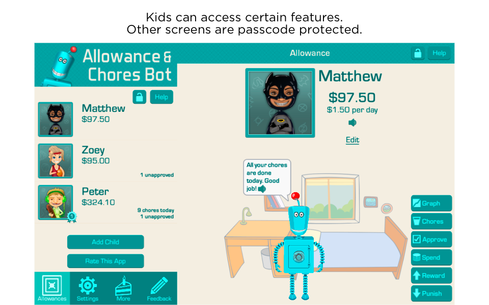 Allowance & Chores Bot- screenshot
