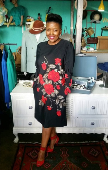Nosipho Mayosi of VintiQueen, a cool vintage store in New Doornfontein.