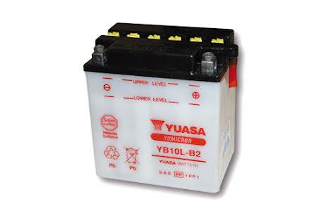 YUASA MC-batteri YB 10L-B2, 12V12AH utan syrapack