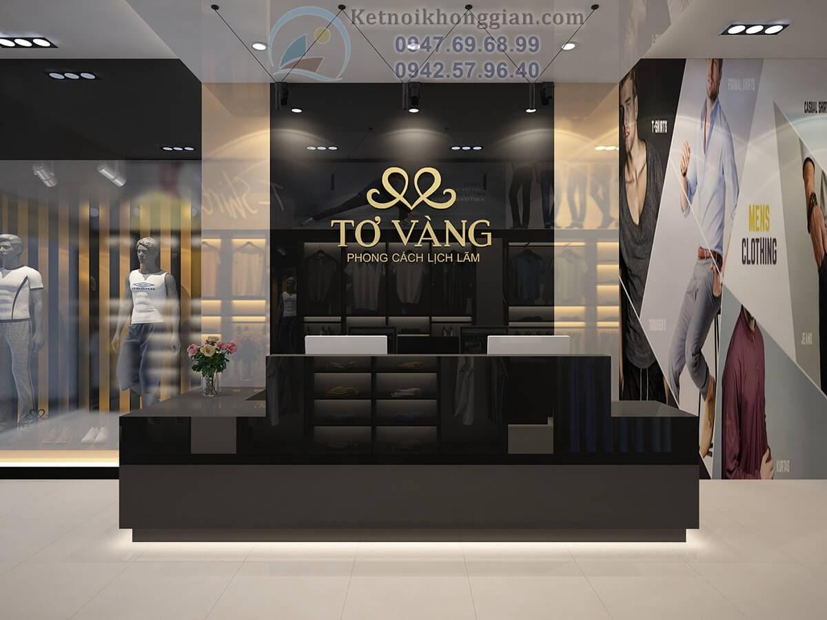thiết kế cửa hàng thời trang sang trọng quyền quý