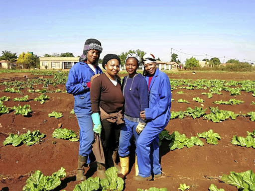 Isabella Twala, Esther Shirinda, Mbali Rakgalakane and Tseleng Motshello from the Greater Soshanguve Agricultural.