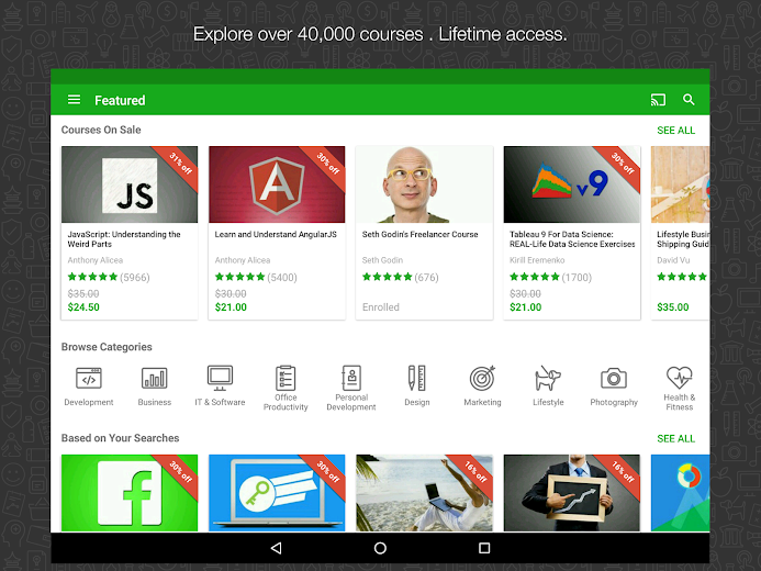 Screenshot 8 for Udemy's Android app'