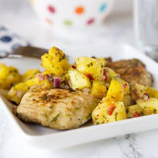 Jerk Chicken with Pineapple Salsa.