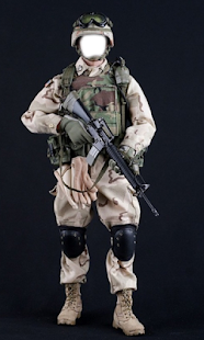 Army Force Suit Photo Frames - náhled