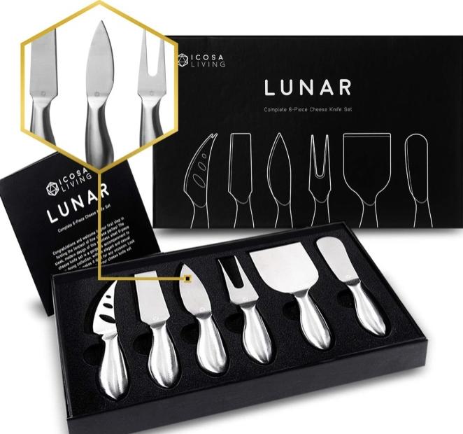 Lunar-Premium-6 pieces-set-of-cheese-slicer