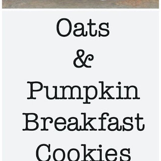 Oats & Pumpkin Breakfast Cookies