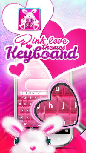 ピンクの愛のキーボード