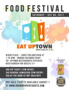 EAT UPtown Food Festival @ Nixon Plaza | Whittier | California | United States