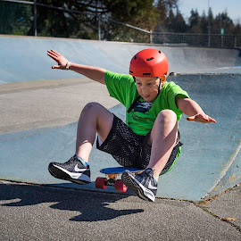 Children At Play by Garry Dosa - Babies & Children Children Candids ( skateboard, sports, outdoors, helmet, action, skateboarding, people, boy, movement, park, child )