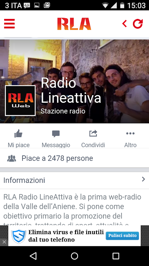 Radio LineAttiva- screenshot
