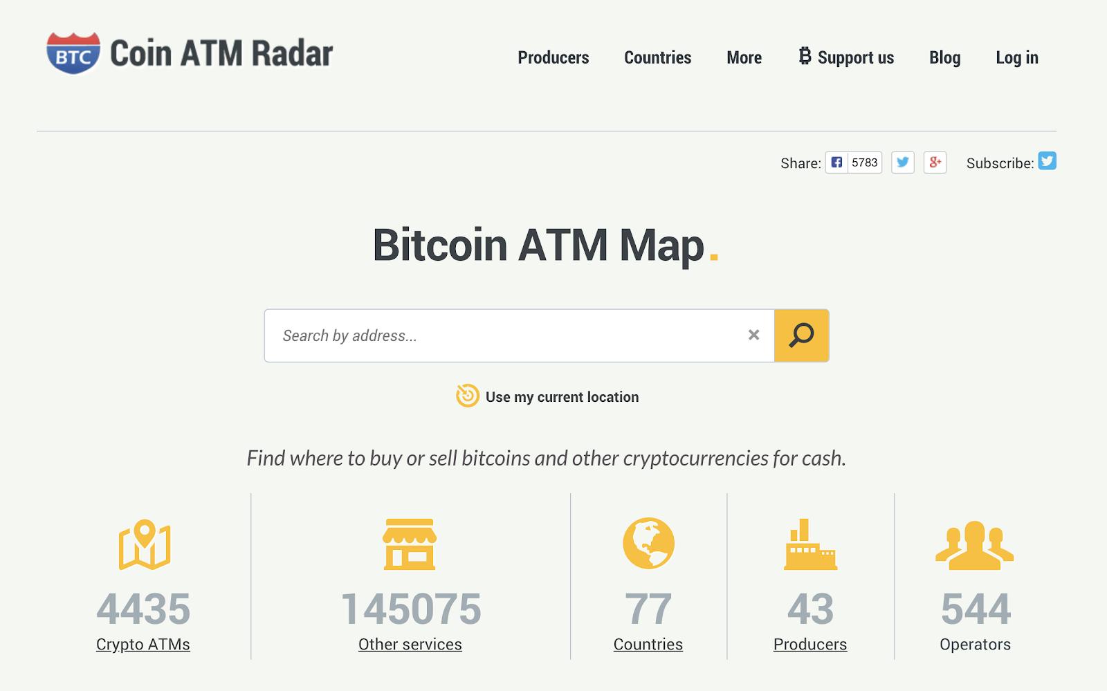 Bitcoin ATM Map - CoinCola